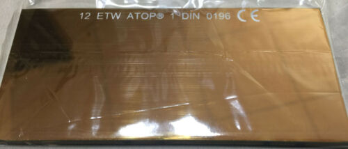 Filter Welding Glass Mirroring Gold Coloured 4 1/4x2.01x0 1/8in T.12 Screen