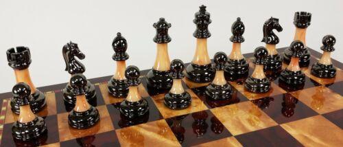 Buy Best Staunton Chrome & Black Chrome Chess Men Set Weighted Pro Plastic - NO BOARD.