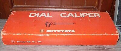 Mitutoyo 6-inch Dial Caliper .001 No. 505-637 Original Case Stainless