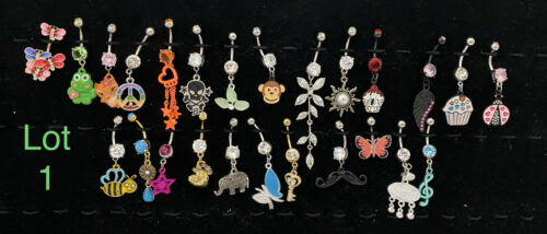 *LOT* WHOLESALE 25  BELLY RINGS