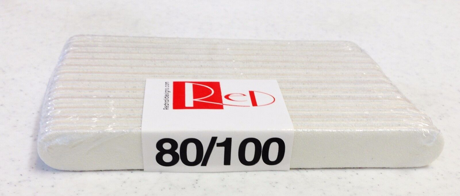 RED Nail Designs Emery Board Natural Nail File White 5 inche