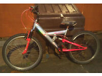 emmelle 15 speed mountain bike very good condition shimano gears suit 9 to 14 year old