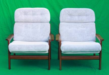 Pair of Mid century,Danish inspired Jason solid teak armchairs. Atwell Cockburn Area Preview