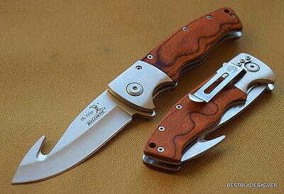 Elk Ridge Pakkawood Handle Spring Assisted Knife   Razor Sharp   W  Pocket Clip