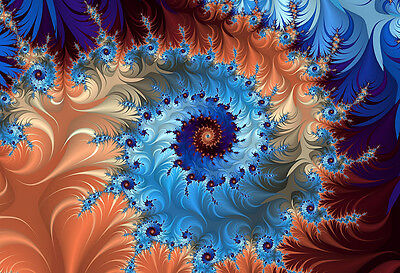 Fractal Spiral To Infinity - Abstract Poster Print - Digital Art - Abstract Art