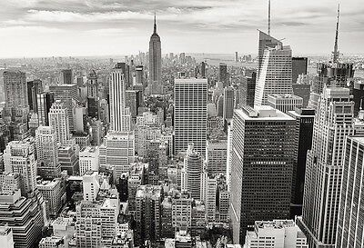 New York Manhattan Skyline In B&W - Landscape Poster Art - Photo Print - Artwork