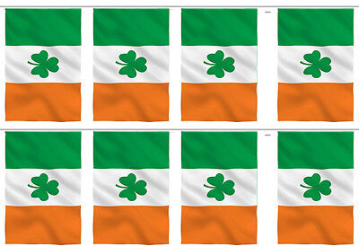 Irish Ireland Shamrock Country 12x18 Bunting String Flag Banner (8 - Irish Flag Bunting
