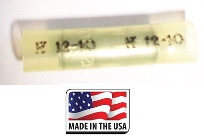(100 BUTT CONNECTOR NYLON STRAIGHT 12-10 GAUGE ELECTRICAL TERMINAL MADE IN USA)