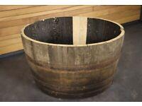 Large Reclaimed Oak Whiskey 1/2 Size Puncheon Barrel