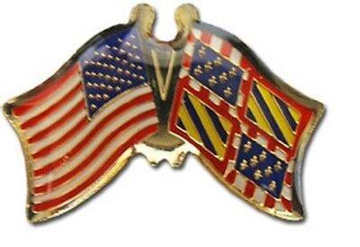 Wholesale Pack of 50 USA American Burgundy Friendship Flag Hat Cap lapel Pin