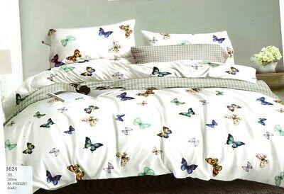 Bettwäsche-Set, 160x200, 4 Teile ,Schmetterling