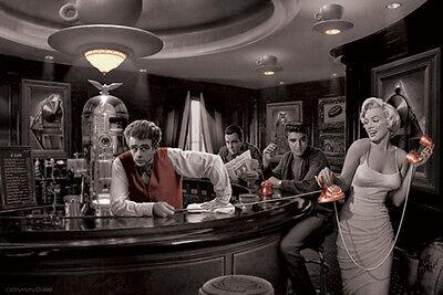 Chris Consani Java Dreams Dean Bogart Presley Monroe Movie Icons Poster   18X12