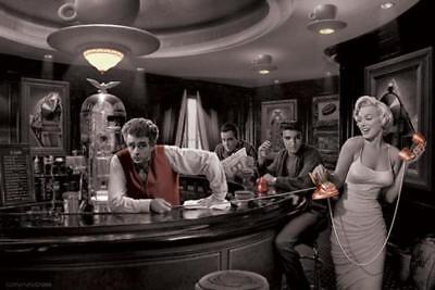 Chris Consani Java Dreams Dean Bogart Presley Monroe Movie Icons Poster   36X24