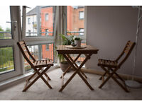 Folding Wooden Table & Chairs Set