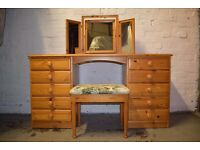Ducal Bellamy Dressing Table With Stool (DELIVERY AVAILABLE)