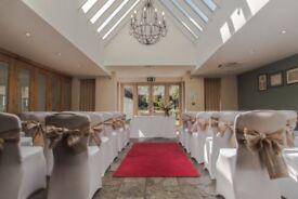 Wedding chair covers white x 50 / Shabby Chic chair sash x 50