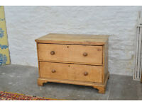 Antique Victorian Pine Chest of Draws - beautiful piece of furniture requires a new back panel