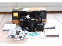 Nikon D5200 + Lens + Battery Grip with box