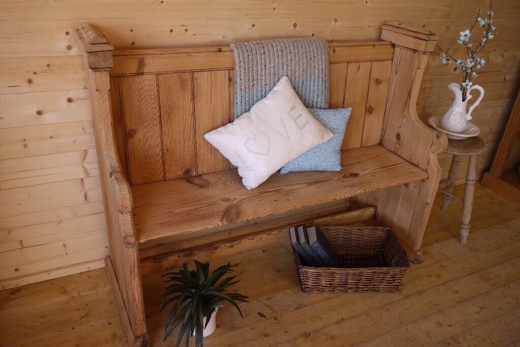 Awesome Rustic Antique Solid Wooden Waxed Pine Church Pew Settle Monks Bench Hall Seat In Selby North Yorkshire Gumtree Lamtechconsult Wood Chair Design Ideas Lamtechconsultcom