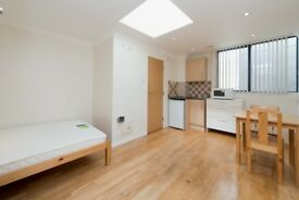 A spacious and contemporary studio apartment located in the heart of Chalk Farm