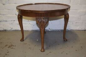 Coffee table with pie crust edge (DELIVERY AVAILABLE)