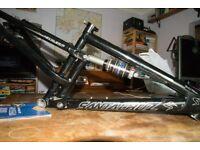 "Santa Cruz Heckler Frame 15"" small. Fox Float Air shock. Over £1000 new."