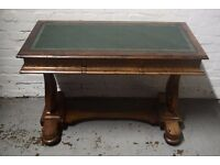 Leather topped writing desk (DELIVERY AVAILABLE)