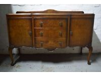 Vintage walnut sideboard (DELIVERY AVAILABLE)