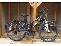 "Boys Ridgeback 24"" MX Terrain Mountain Bike with Suntour front suspension - 2 yrs old"