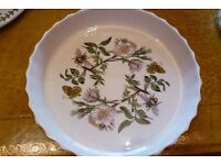 """11"""" Portmeirion Botanical Garden Flan Dish"""