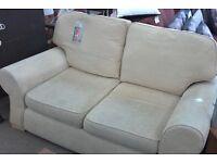 Sofa fabric cream 2 seater