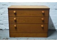 Teak stag chest of drawers (DELIVERY AVAILABLE)