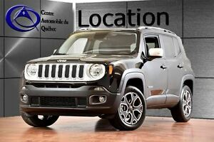 2017 Jeep Renegade Limited 4X4 CUIR, LOCATION 1 a 12mois