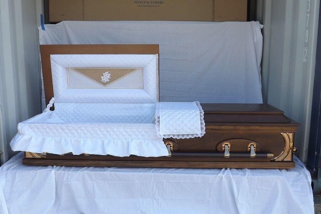 job lot of unused funeral coffins caskets in wimborne dorset