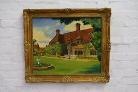 Country House Oil Painting (DELIVERY AVAILABLE)