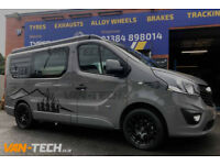 Calibre Exile-R 18″ Alloy Wheels Black fitted to a Vauxhall Vivaro
