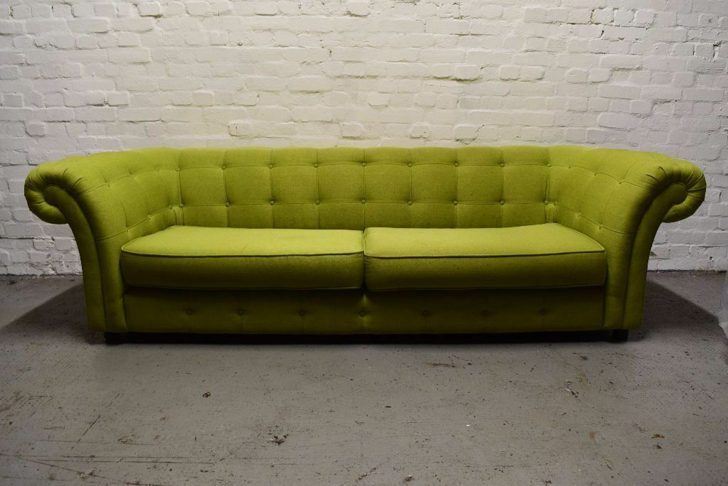 dfs lime green chesterfield style fabric sofa delivery. Black Bedroom Furniture Sets. Home Design Ideas