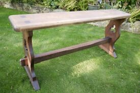 High Bench / Organ Seat / Hall Seat In Pitch Pine Traditionally Made. Antique Gothic / Arts & Crafts