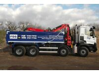 8 Wheel Grab Lorry Hire Cambridge / Ely / Newmarket / Huntingdon From £150 + VAT