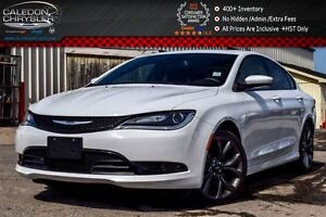 2016 Chrysler 200 S|Duale Pane Sunroof|Backup Cam|Bluetooth|Pwr