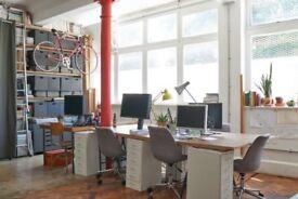 Bright desk spaces to rent in studio in Brixton