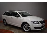 SKODA OCTAVIA 1.6 TDI S CR 5 Door Estate 104 BHP (white) 2014