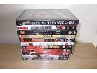 10 DVD,S Including The Titanic, Snatch, Blade