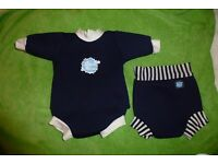 Splash About baby 2 in 1 wetsuit and happy nappy (Large) and Splash About happy nappy (medium)