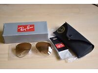 Brand New Genuine Ray-Ban Aviator RB 3025 Brown Fade Lens Gold Frame 001/51 Size 62/14 RRP134