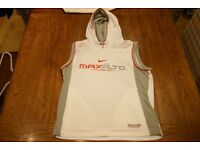 Nike Air Max Ltd Hooded Vest Small (White/Red/Grey)