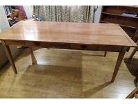 Large Oak French Style Dining Table