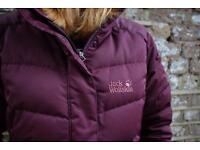 JACK WOLFSKIN purple coat SMALL