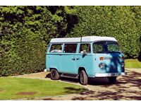 VW T2 1974 Campervan, Beutifully renovated, new poptop roof, new rebuilt engine plus much much more!