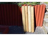 landscape garden logs